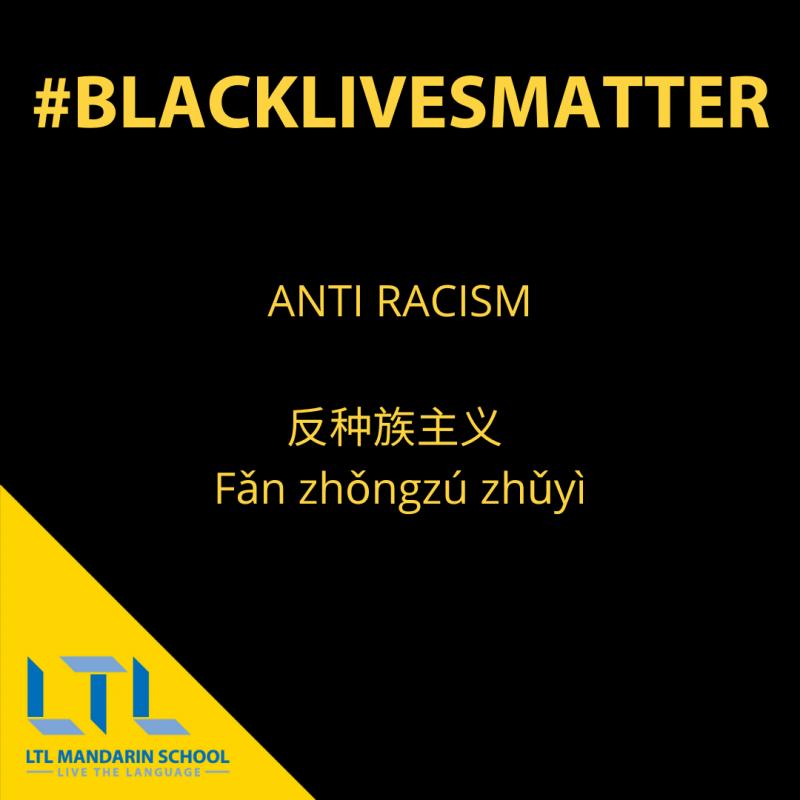 Black Lives Matter Chinese Vocabulary
