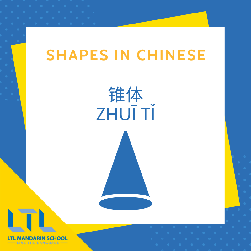 Shapes in Chinese - Cone