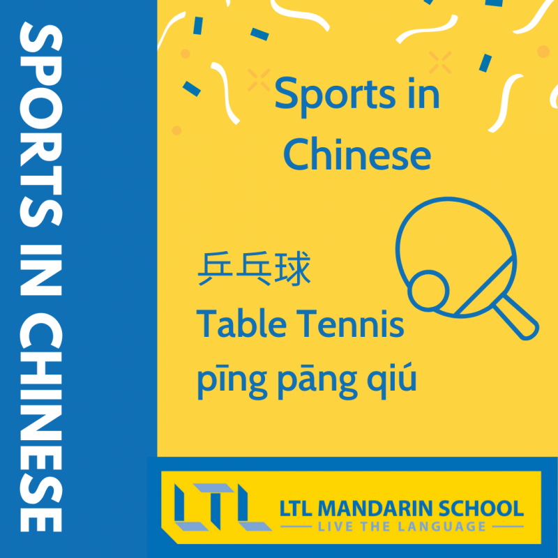 Sports in Chinese - Table Tennis in Chinese