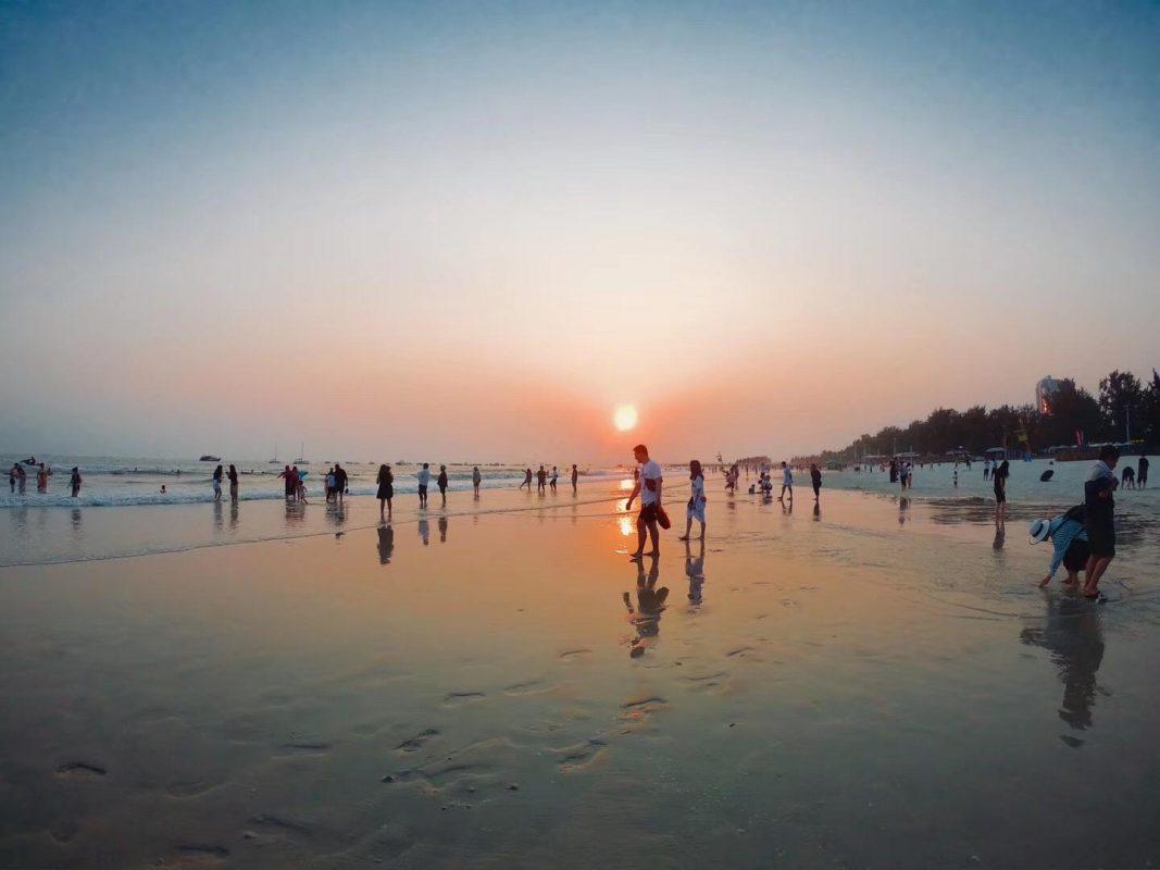 Sunset on Beihai Beach
