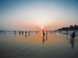 Sunset on Beihai Beach