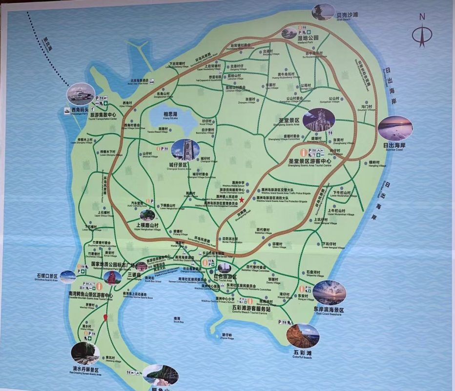 Map of Weizhou Island